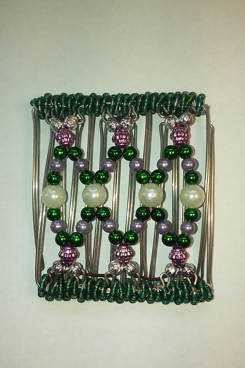 Green & purple Bead - 7 prongs