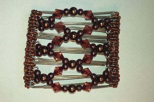 Brown Bead - 7 prongs