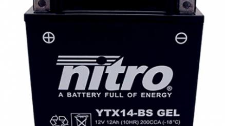 BATTERIE 12V 12Ah YTX14-BS GEL NITRO SANS ENTRETIEN GEL PRET A L'EMPLOI (Lg150xL