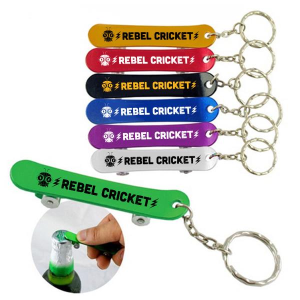 Skateboard Bottle Opener Keychains