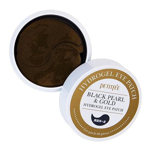 Petitfee - Black pearl & gold eye patch - hydrożelowe płatki pod oczy - 60szt.