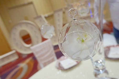 Hanging Glass Spheres x4