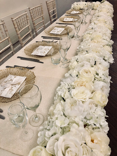 Floral Runners Per 12ft (top table seating 6)