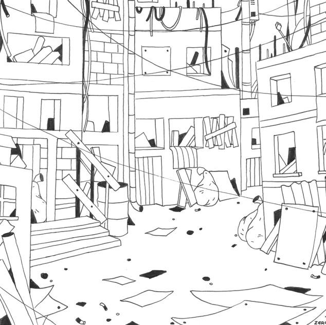 Abandoned slum