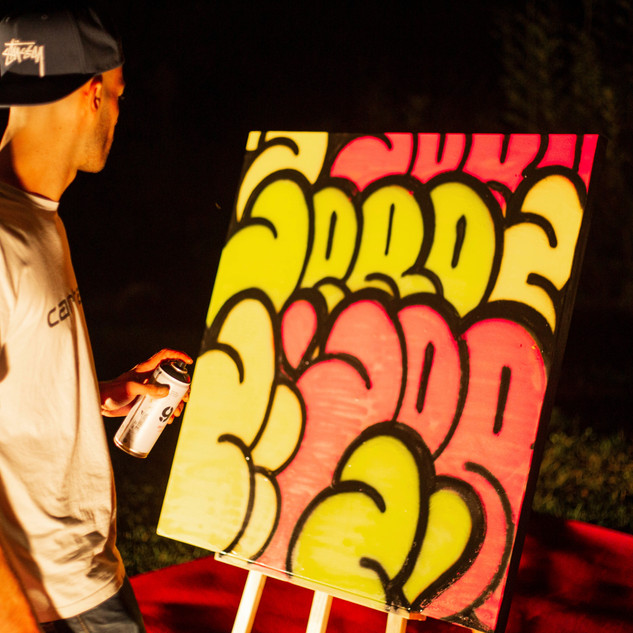 Live painting at Moulin de Valaurie