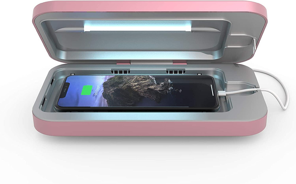 uv phone sanitizer and charging case from phonesoap