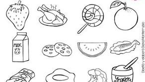 Coloreando los alimentos sanos