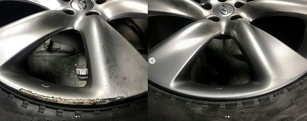Удаление царапин с дисков авто