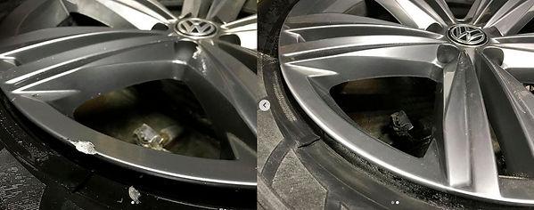 Ремонт царапин литых дисков