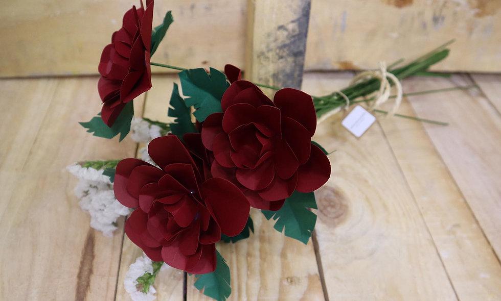 Ramillete de 5 rosas rojas