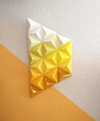 mosaico piramides origami missmsmith art