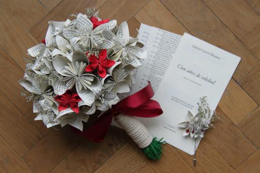 Ramo de novia de flores de papel origami Madrid Missmsmith