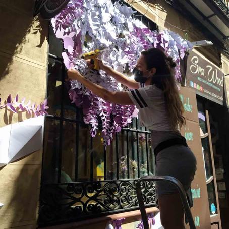 Arte urbano y papel en CALLE 20 Lavapiés