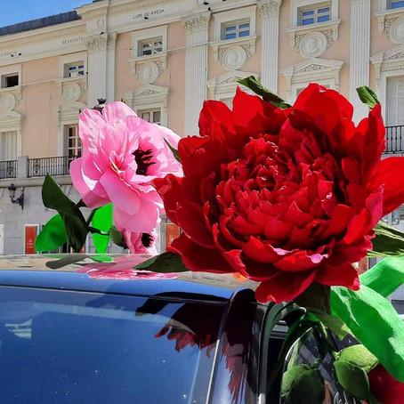 Intervención artística flores gigantes DS3 Crossback