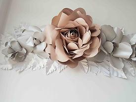 Missmsmith flores de papel pared rosas,