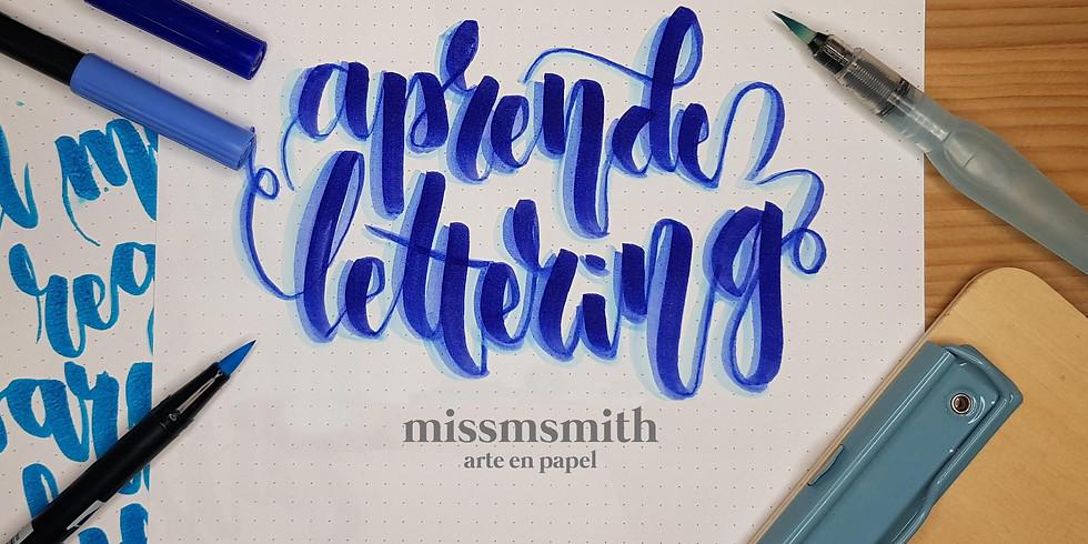 Taller de iniciación al lettering con rotulador caligráfico