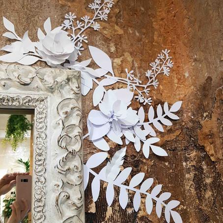 Arte mural en papel para Pcastroreyes