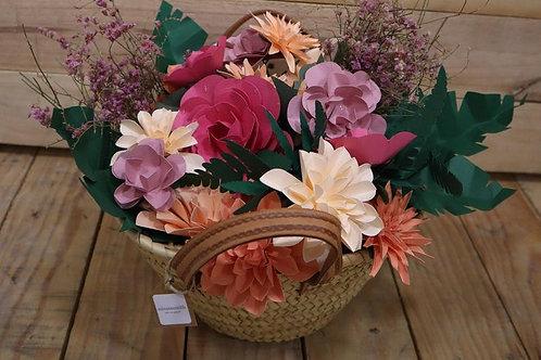 Capazo de flores de papel Cantabria