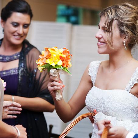 Ramitos para invitadas en la boda de Loreto