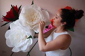 Flores gigantes papel crepe missmsmith c