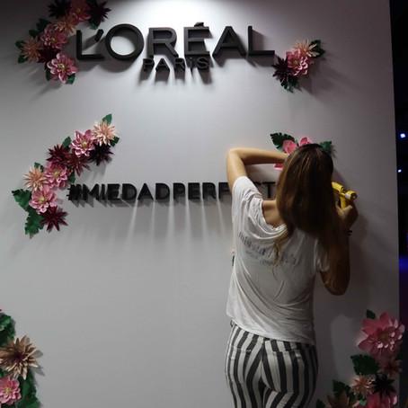 MBFW con L'Oreal y una cascada de flores de papel Missmsmith