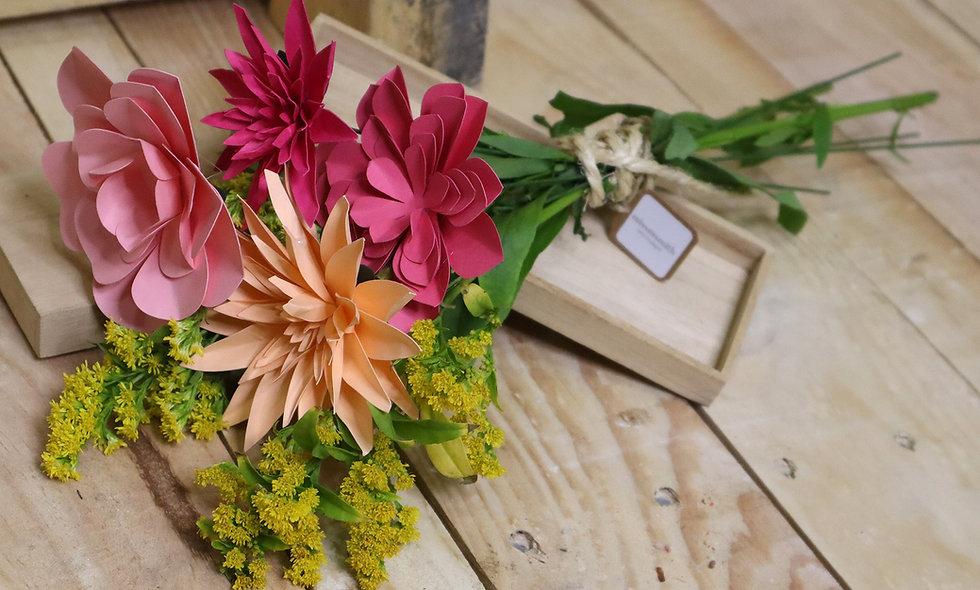 Ramillete de flores de papel Madrid