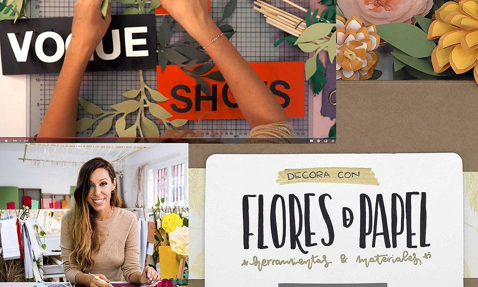 Pack flores de papel - Curso Vogue Shots+Cajita herramientas y materiales