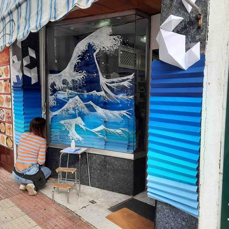 """CREA Alcobendas: """"Ola solidaria"""" de rotulador y papel"""