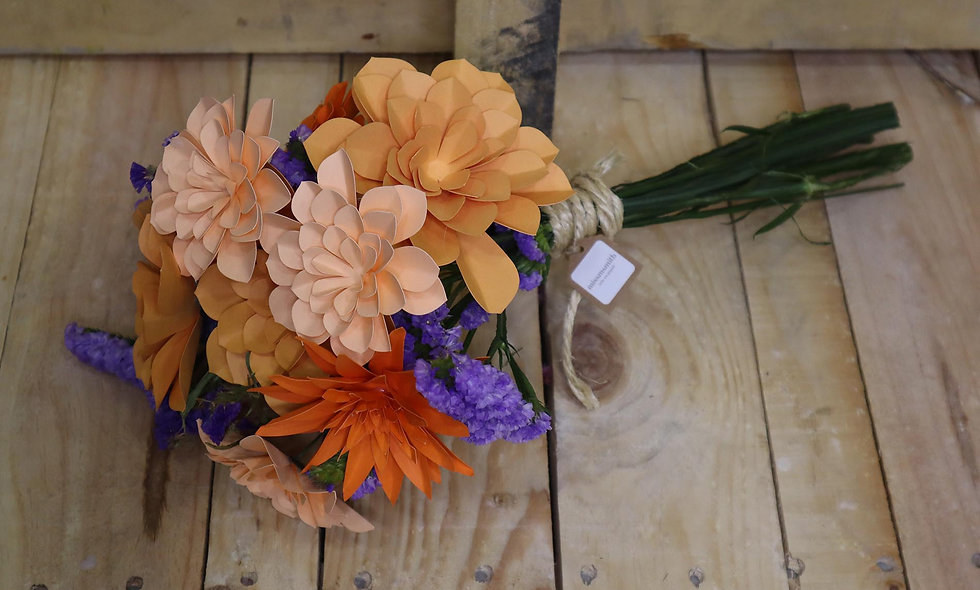 Ramo de flores de papel La Palma
