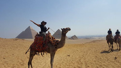Camel ride in Cairo, Egypt