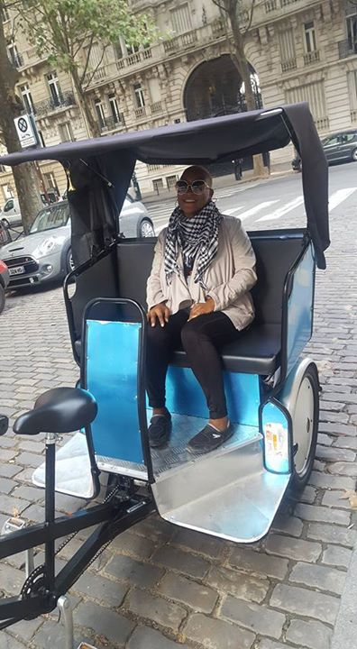 On a taxi/bike