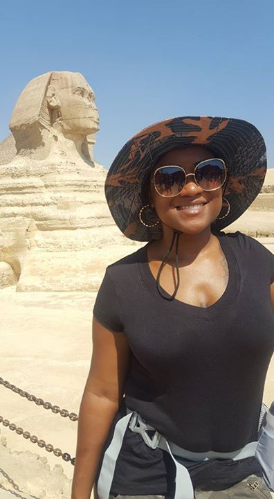 In front of the Sphinx