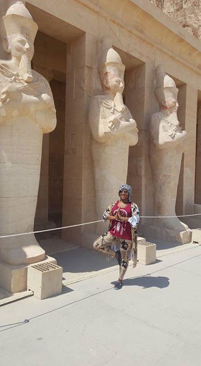 In front of Queen Hatshepsut's Temple