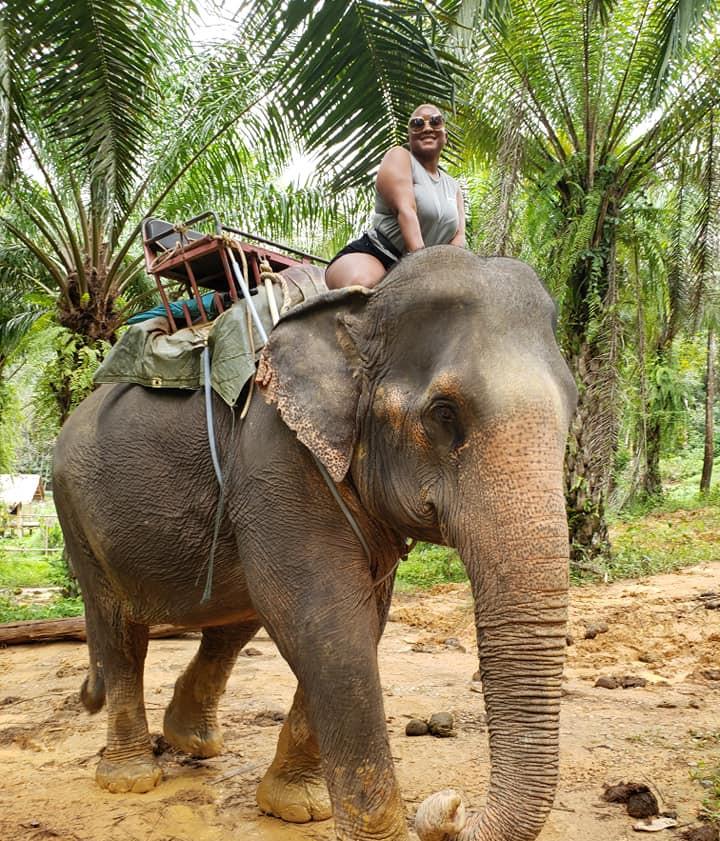 ashawna lane elephant thailand phuket bu