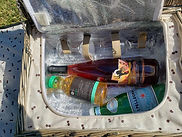 ashawna lane picnic basket wine glasses