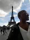 ashawna lane paris france eiffel tower tourist tourism american black woman content creator blog travel sponsor