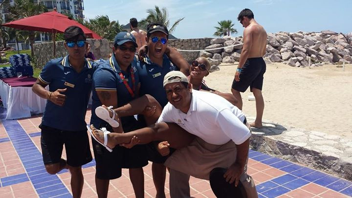 Hanging with the guys in Mexico