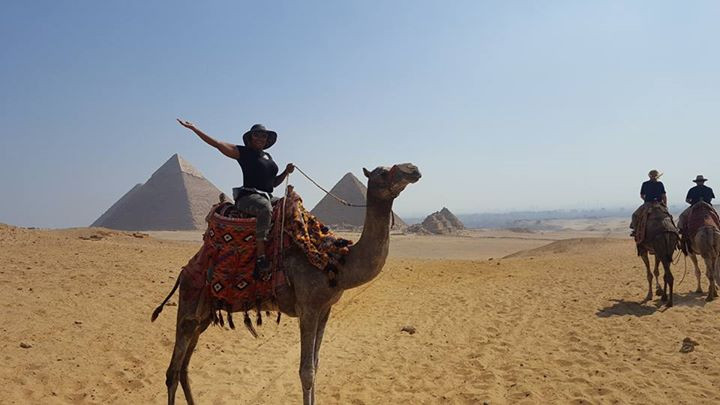 First time riding a camel