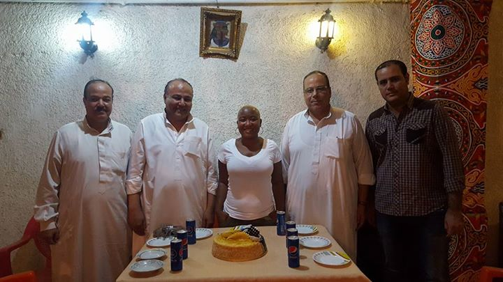 Hotel staff and Egyptian Friends