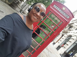 Red phone booth, London, England