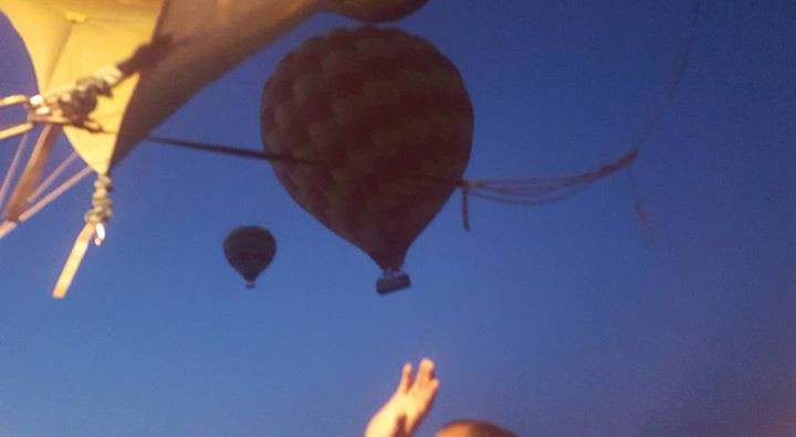 Balloons in lift off