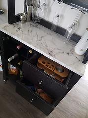 home bar wine champagne glasses shot liq