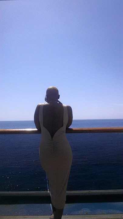Overlooking the Pacific Ocean from my Balcony room