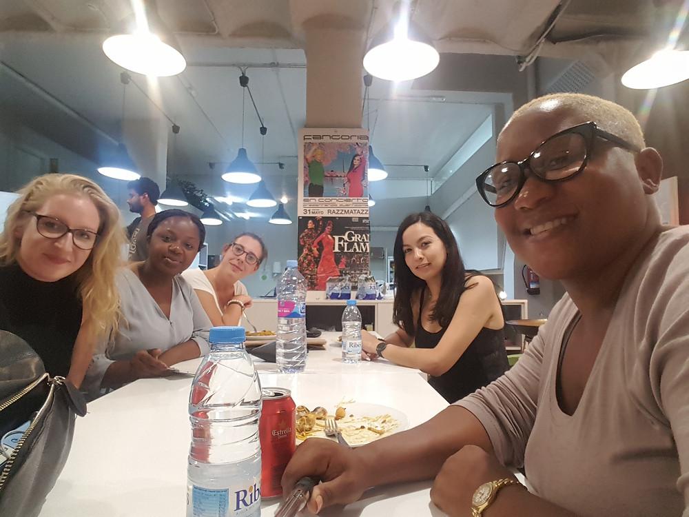 The lovely women I met in Barcelona, Spain