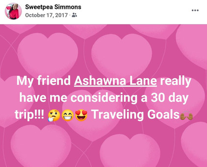 ashawna lane travel agent book review world business woman testimonial