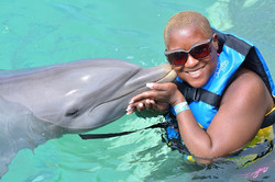 Dolphin kiss in Anguilla