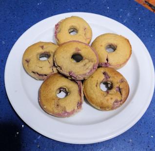 Donuts fit rellenos de fresa