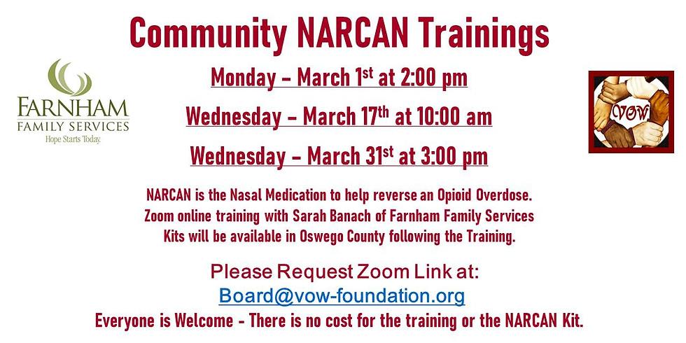 NARCAN Trainings