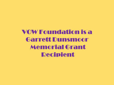 Garrett Dunsmoor Grant helps the VOW Foundation with Virtual Education.