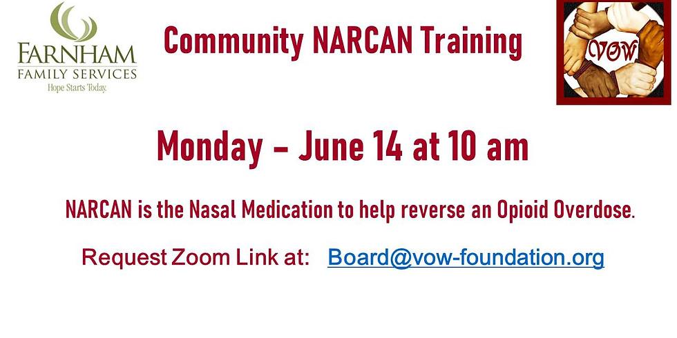 NARCAN Training 6/14 at 10 AM